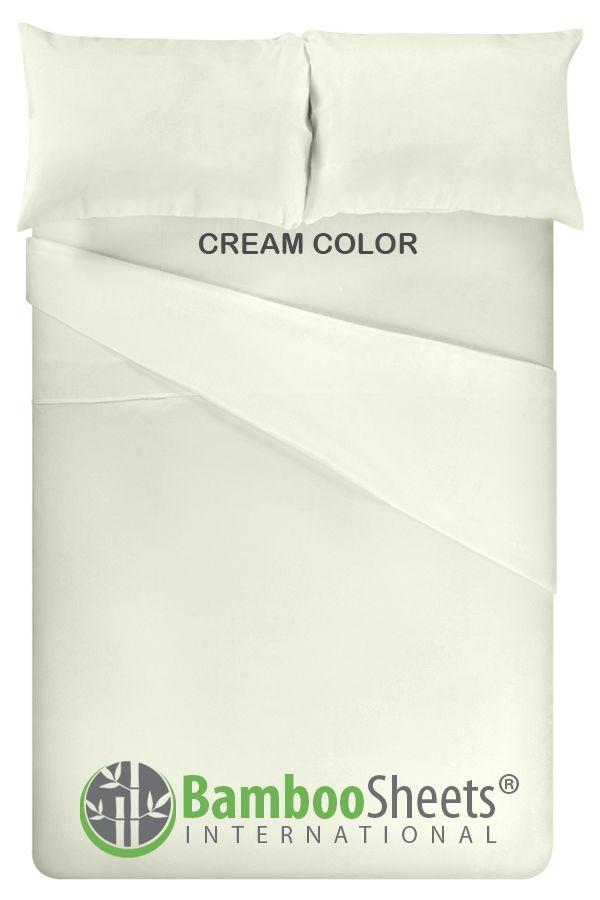 Bamboo Sheets King Size Cream