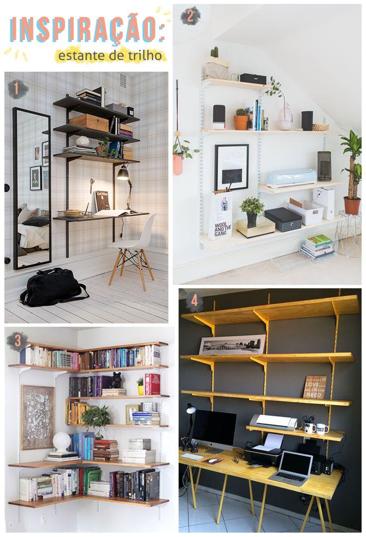 como fazer uma estante de livro barata // palavras-chave: dinheiro, estante, home office, escritório, organização, decoração, escrivaninha, escrivaninha barata
