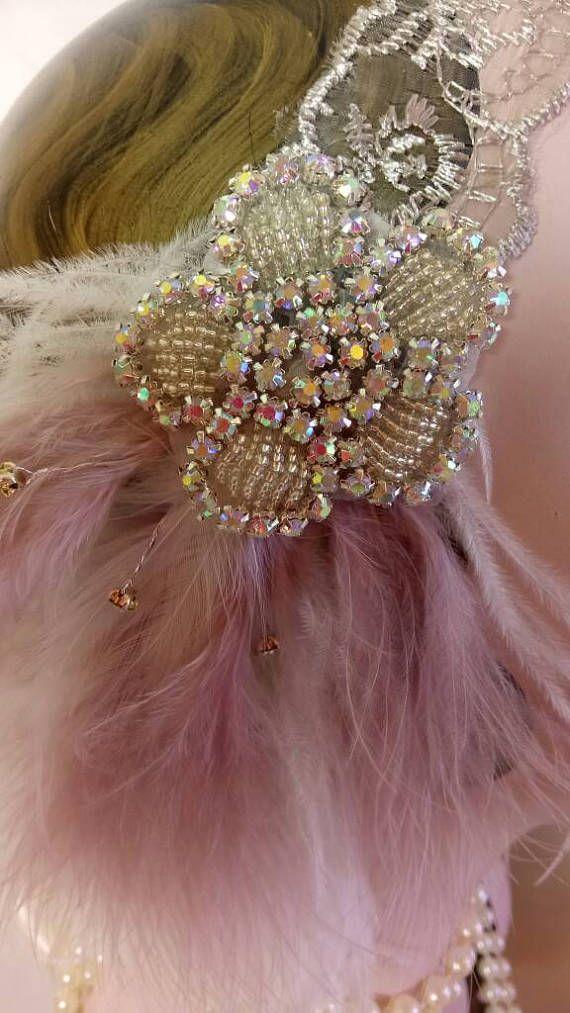 Last one wedding lace charleston flapper 20s headband