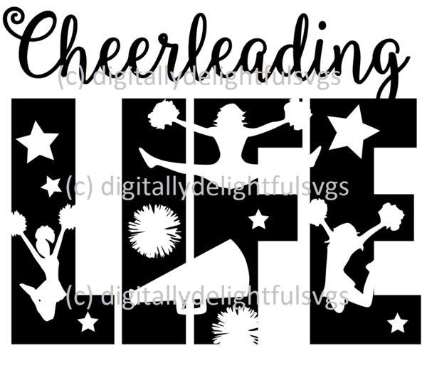 Cheerleading Life Svg Crafts Cheer Mom Shirts