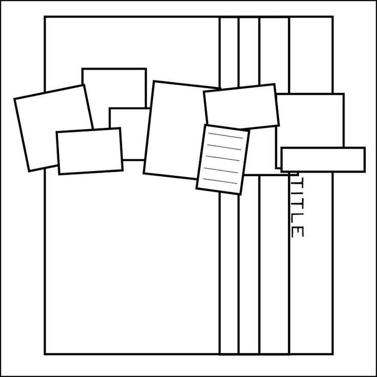 sketch: Scrapbook Ideas, Sketches Scrapbook, Scrapbooking Sketches, Scrapbooking Cards, Scrapbook Sketches, Layout Sketches, Multi Photo, Sketches Layouts, Scrapbooking Layouts