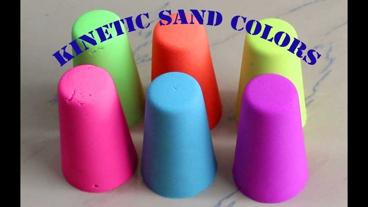 DIY How to make Kinetic sand colors with spell // Bees vs Shapes Kinetic...