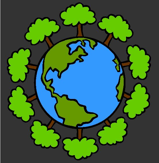 green earth coloring page