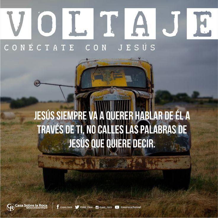 Jesús siempre va a querer hablar de ÉL a través de ti. #ConéctateConJesús http://devocional.casaroca.org/jv/20may