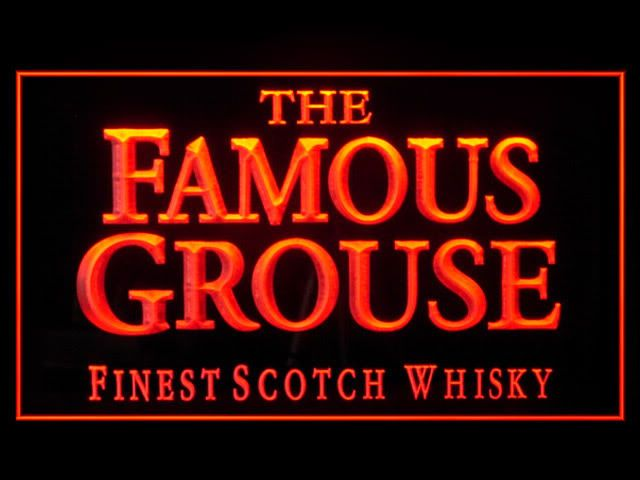 P659R Famous Grouse Whisky For Pub Bar Display Decor Light Sign