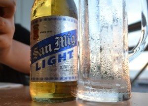 A glass of chilled beer. Best Beer in Asia - Beer Heaven in Philippines - San Miguel Light - The perfect match for Filipino food. For full blog on Beers in the Philippines check here: http://live-less-ordinary.com/asia-travel/best-beer-in-asia-philippines-san-miguel