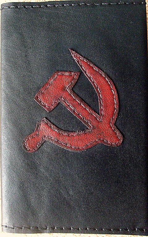 Обложка на паспорт из натуральной кожи, в стиле СССР.