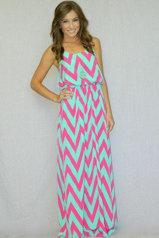 Girly Girl Boutique - pretty bright dress!