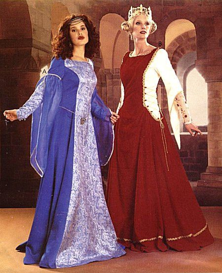 Renaissance Bridal Gown Sewing Pattern Princess Dress: McCall's Costume Sewing Pattern Medieval Gown Camelot