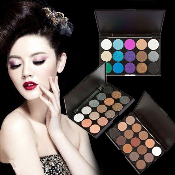 Купить товар15 цветов макияж мерцание матовый палитра теней комплект 3 стилей природных длинными прочного состава Eyeshadow в категории Тени для векна AliExpress.