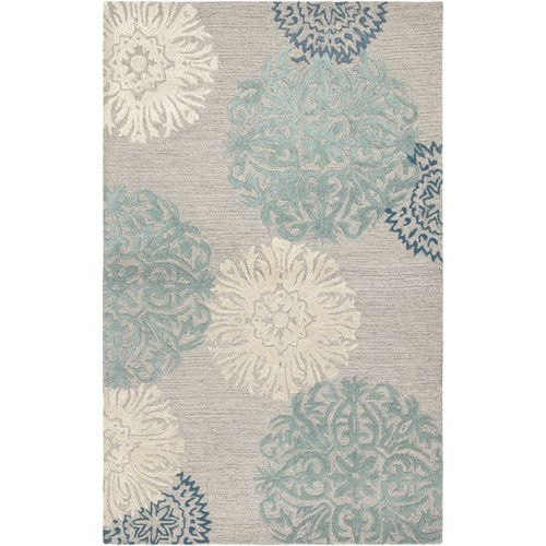 Found it at Joss & Main - Monique Gray & Silver Floral Wool Hand-Tufted Area Rug