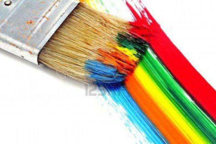 collage de colores brillantes
