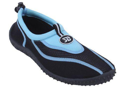http://www.undergroundsoundsky.com New Mens Slip on Water Pool Beach Shoes Aqua Socks (9, Blue 5907)