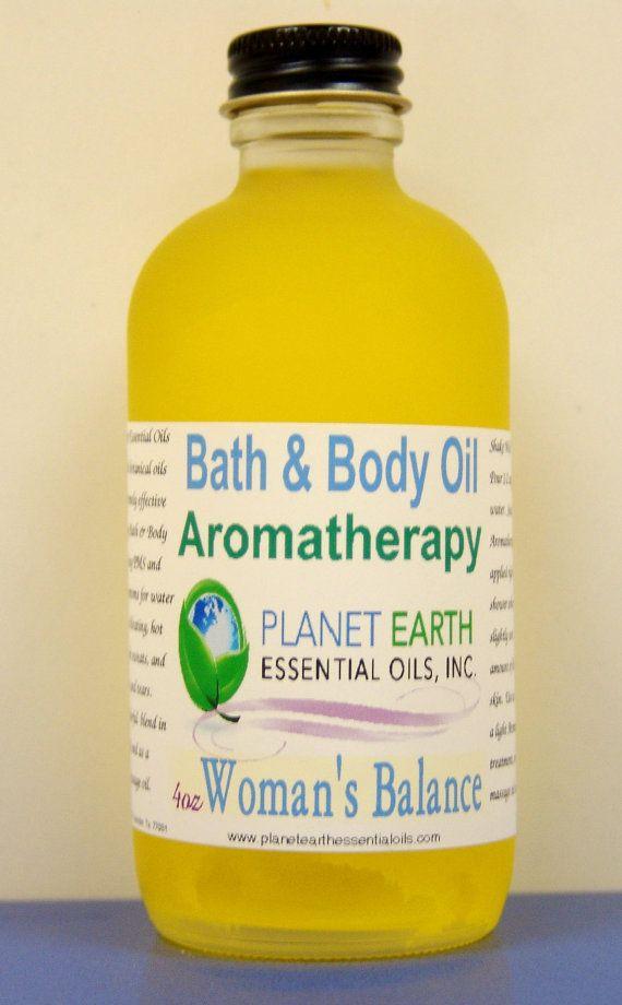 WOMEN BALANCE Aromatherapy Bath & Body Oil by planetearthoils, $20.00