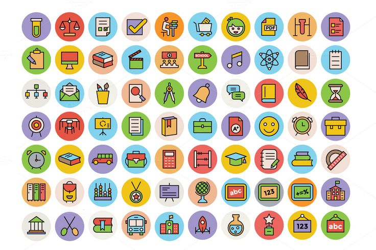325+ Education Icons Set by Vectors Market on @creativemarket