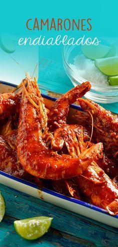 Prepara esta rica receta de camarones endiablados. Tienen un delicioso sabor además de que es rápida, sencilla e ideal para compartir con la familia. Pruébala, te encantará.