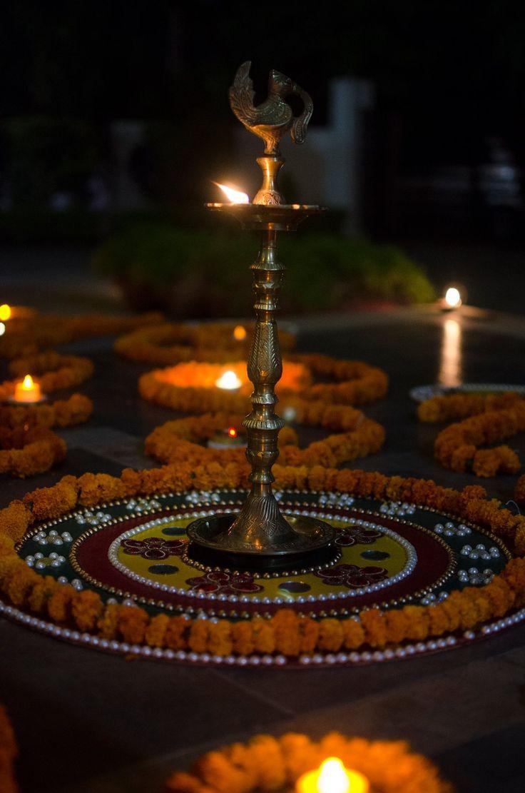 Rangoli'16! Embellished with rich marigold flowers!