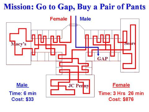 male vs female mission go to the gap funny image