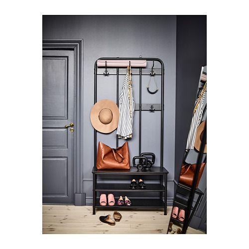 PINNIG Portemanteau et porte-chaussures, noir   Maison Maman b5eb2690aec8