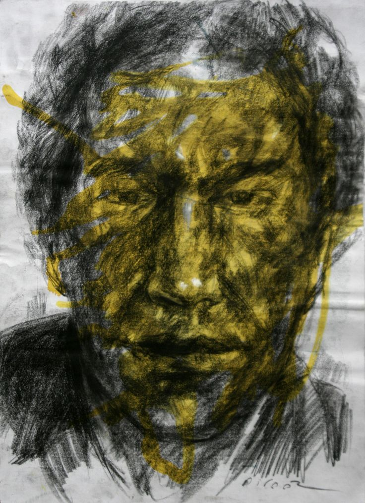 artwork by Ali pirooz z.mixed media on paper. 29.5x42 cm. 2011 Drawing Portrait , ink and conte charcoal