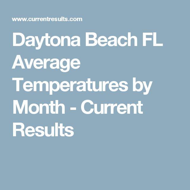Current Temperature In Daytona Beach Florida