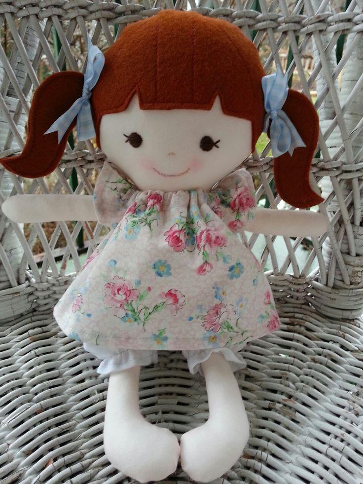 My friend Poppy--a handmade rag doll