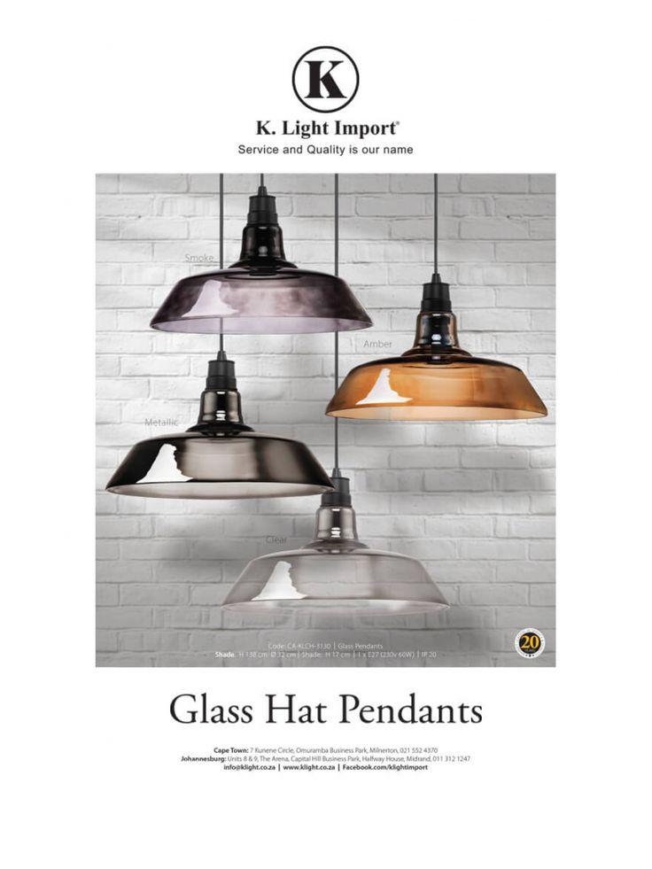 <p><b>Glass Hat Pendants</b><br />  Garden & Home<br />  House & Leisure<br />  Habitat<br />  Afropolitan</p>