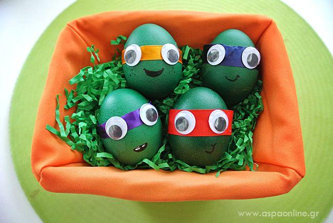 Πώς να φτιάξετε Πασχαλινά αυγά χελωνονιντζάκια (και να δώσετε ωραίες μάχες) - Aspa Online