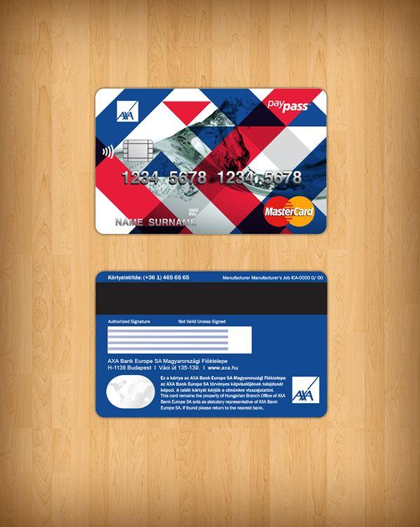 Credit card design.