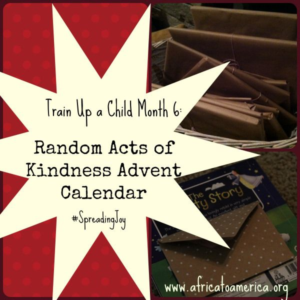 """A Random Acts of Kindness Advent Calendar -- author says, """"it's way better than chocolate!"""""""