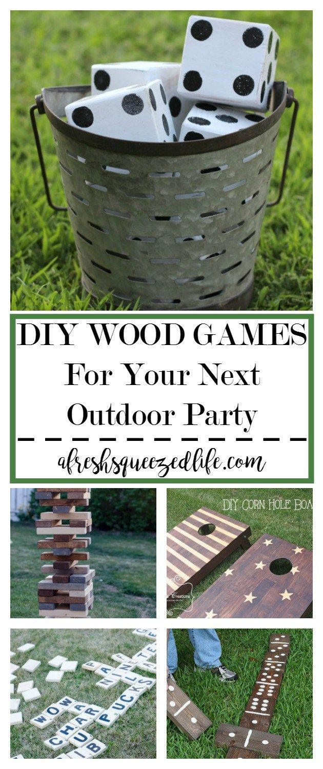 Summertime is all about fun and spending time with family and friends! I have rounded up some great DIY WOOD GAMES for your next gathering! DIY WOOD GAMES FOR YOUR NEXT OUTDOOR PARTY