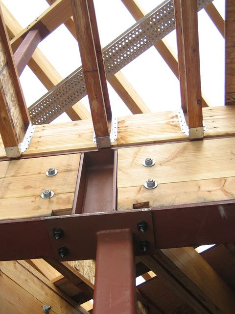 Steel Beam Over Steel Column With Tji Joists Above En