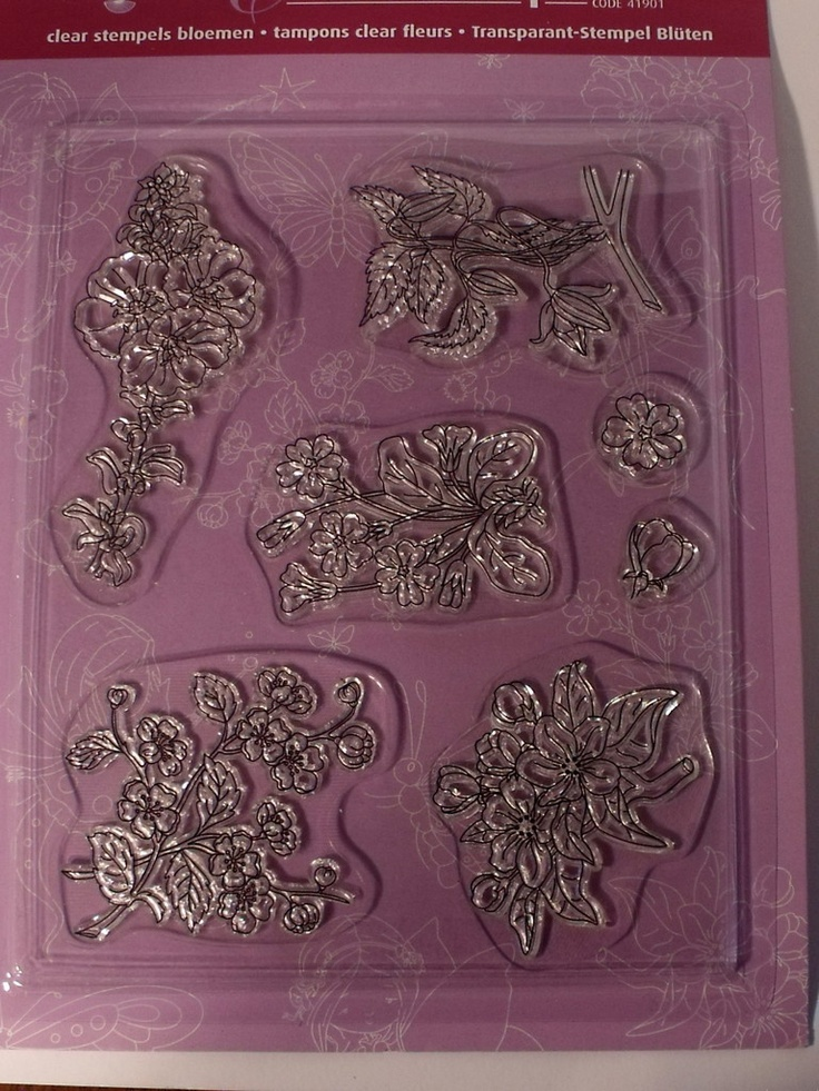 PERGAMANO CLEAR STAMPS - FLOWERS      Flowers is a set of unmounted clear stamps, there are five large stamps and two small stamps.  We advise Stazon stamp ink for stamping on parchment paper.  These stamps can be mounted on Rock-a-Blocks stamp mounts.