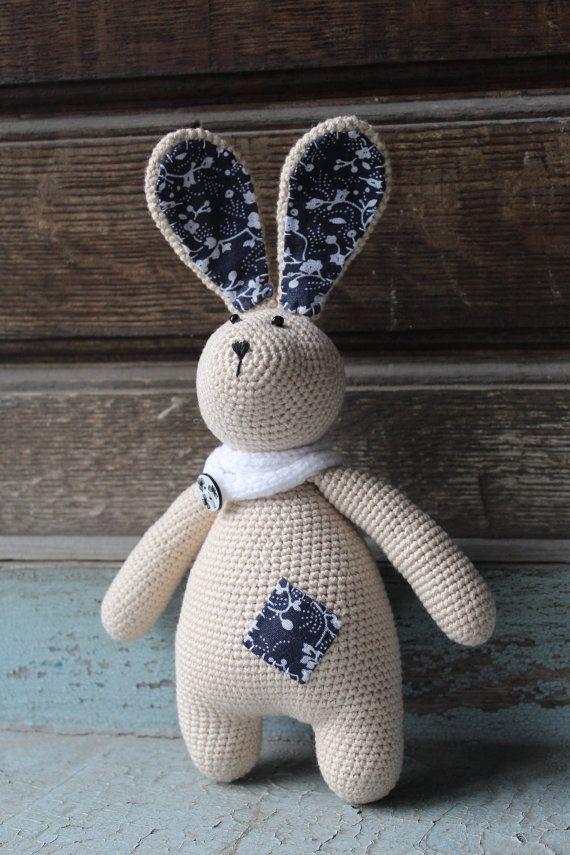 Bunny stuffed toy Crochet bunny Beige bunny Amigurumi Plush
