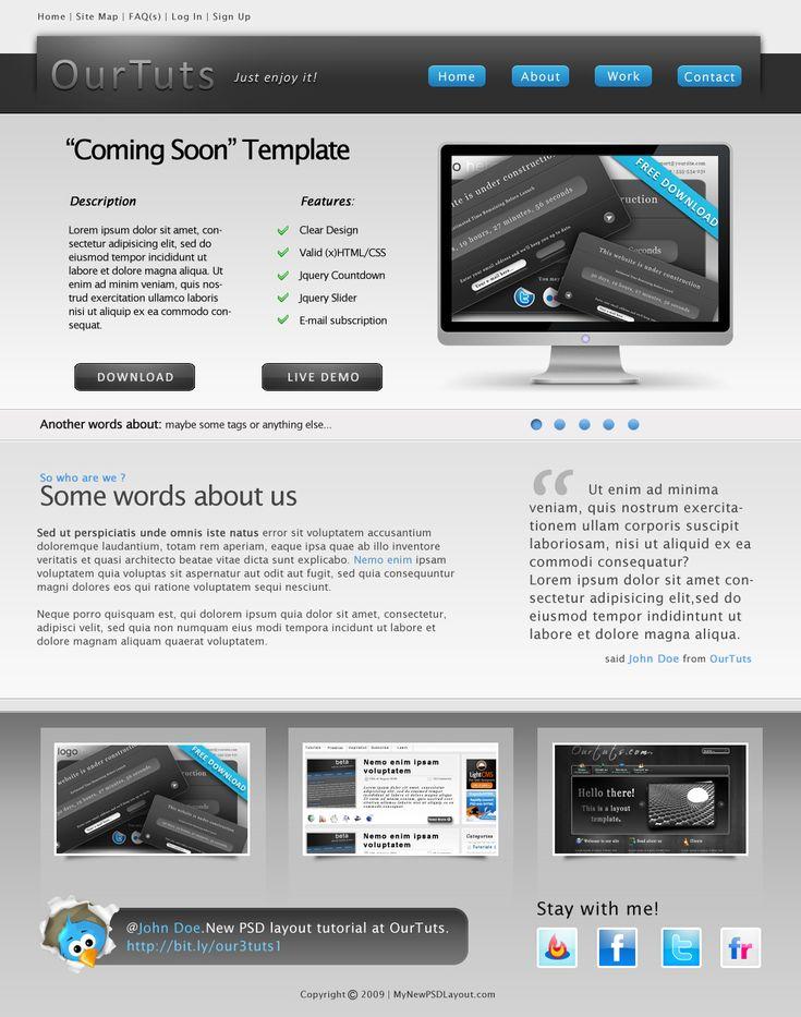 Design a Clean Portfolio Website Layout in Photoshop