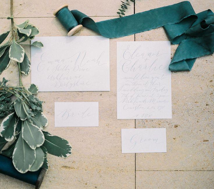 Wedding Stationary | Lily & Sage | Luxury Wedding Planning & Styling | Photography - Katie Julia | Flowers - Westwood Design | Stationary - Moon & Tide Calligraphy.