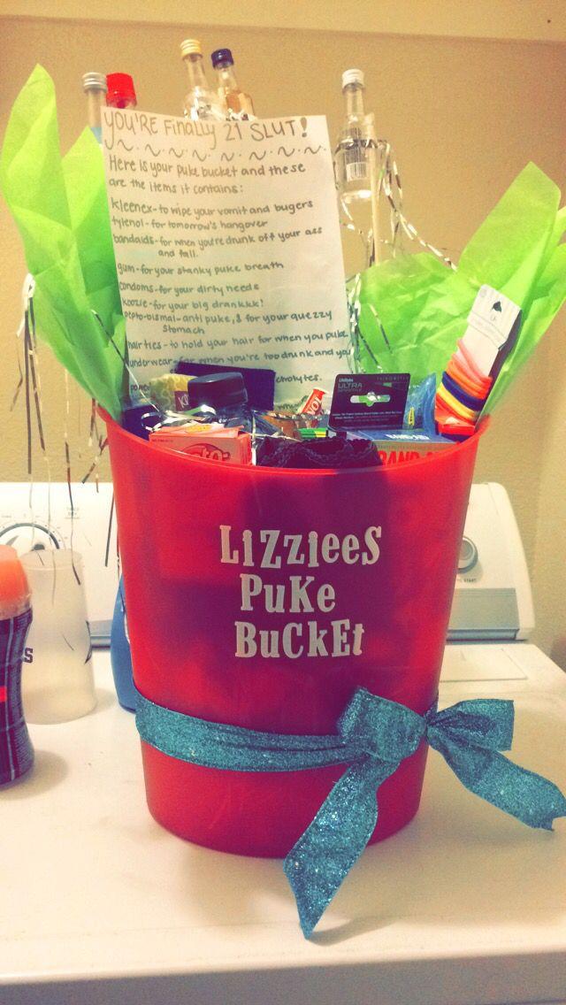 21st birthday idea! Puke bucket!