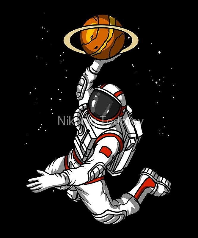Basketball Astronaut Space Planet Photographic Print By Nikolay Todorov Astronaut Art Space Illustration Space Art