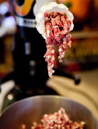 Step-by-step tutorial, with photos, on making homemade sausage. Includes recipe for Italian sweet sausage.
