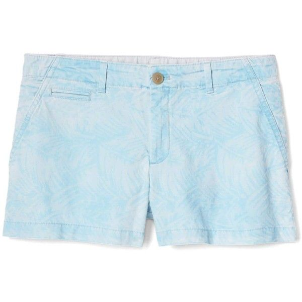 Gap Women Print Twill Shorts ($36) ❤ liked on Polyvore featuring shorts, petite shorts, patterned shorts, twill shorts, print shorts and mid rise shorts