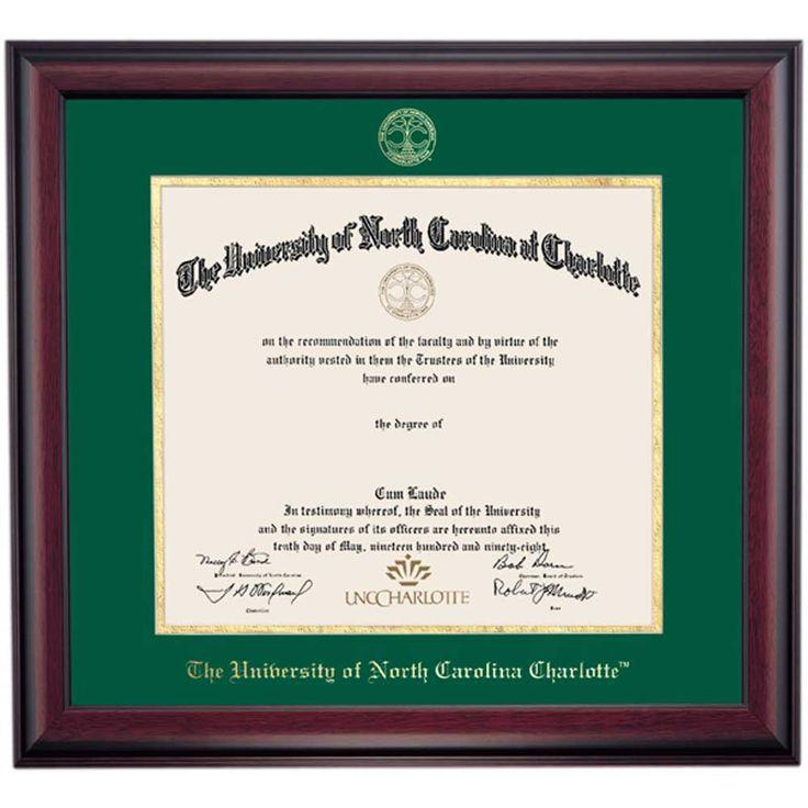 north carolina at charlotte school color traditional diploma frame unc at charlotte unc at charlotte