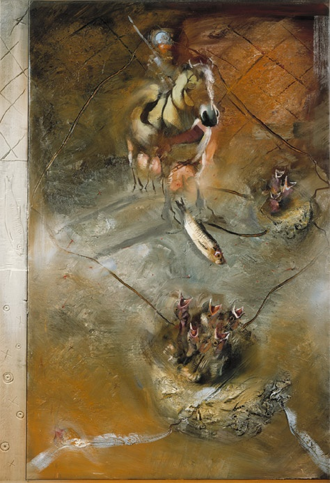 Håkon Gullvåg/Horseman and Nest, 1985 (200x150cm)