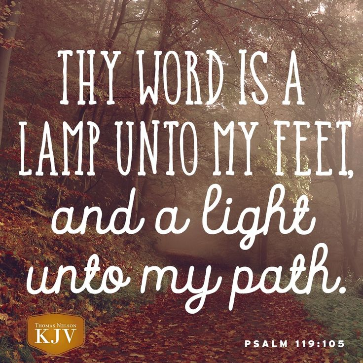 KJV Verse of the Day: Psalm 119:105