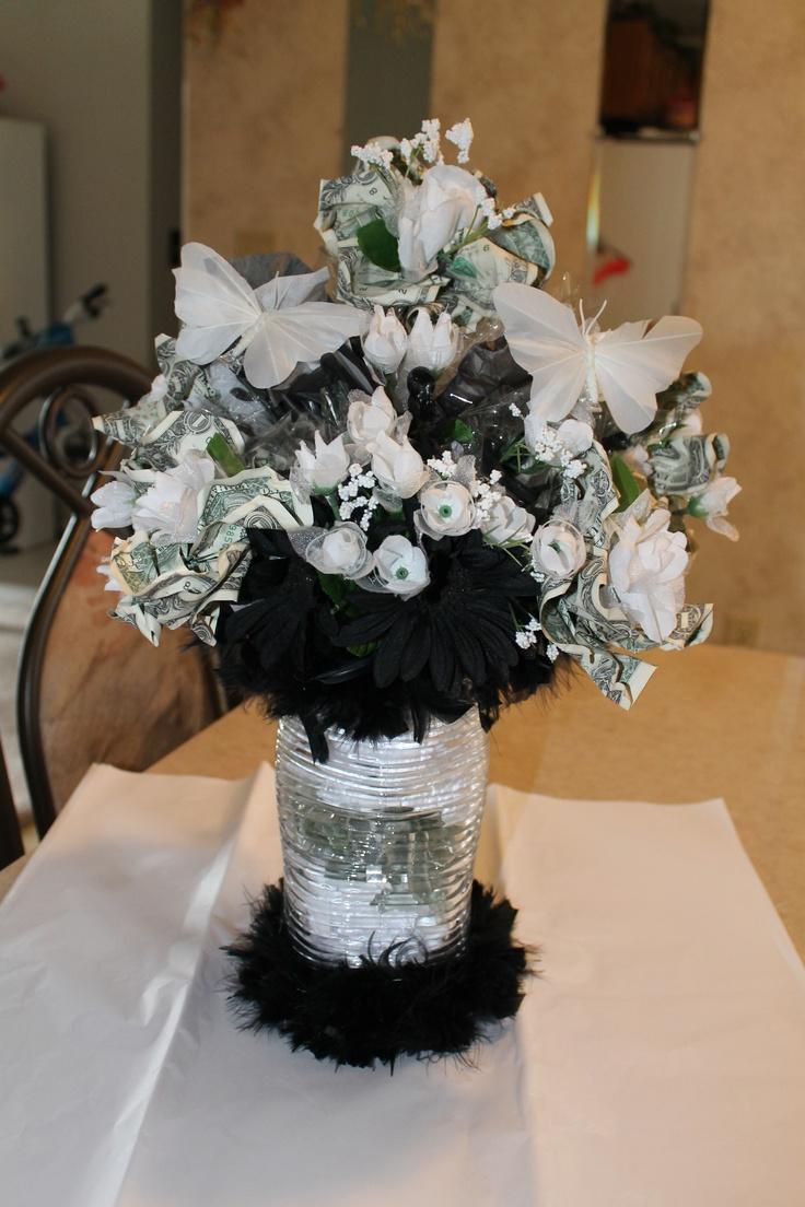 Wedding Money Bouquet Done In Black White