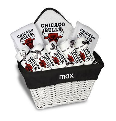 11 best chicago bulls baby gifts images on pinterest aprons our personalized chicago bulls large gift basket is a perfect baby gift with 2 burp cloths negle Choice Image