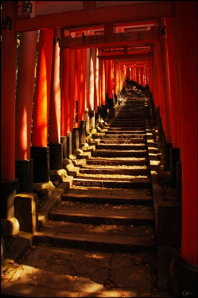 #stairs at fushimi inari shrine, kyoto #japan