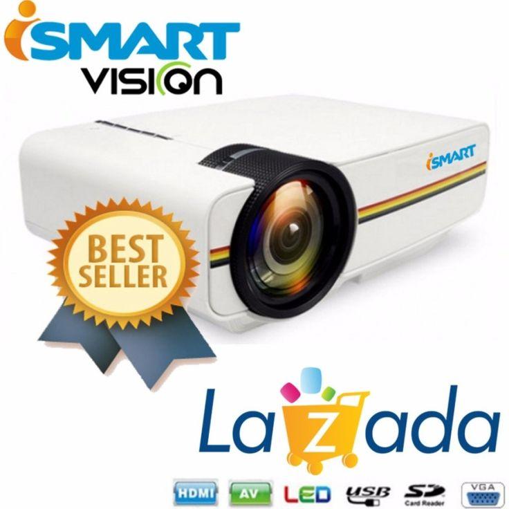 Awesome  I SMART Mini LED Projector Lumens Support P USB HDMI AV VGA SD Home Theater PC I SMART Mini LED Projector