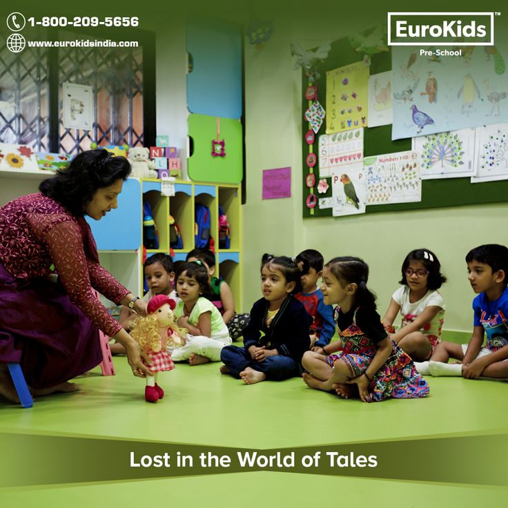 The colourful world of tales engrosses the children when puppets enact their story. At EuroKids, we use story-telling to make learning a fun experience for your child.