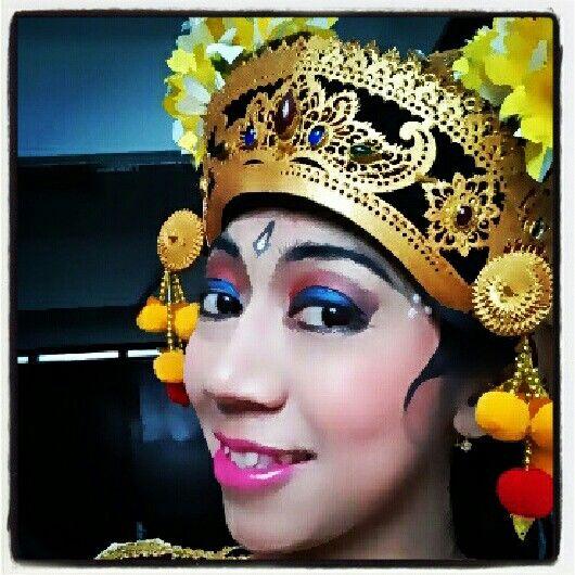 Balinese dancer make up