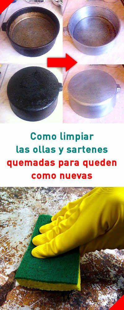 Cómo limpiar las ollas y sartenes de acero inoxidable quemadas para queden como nuevas